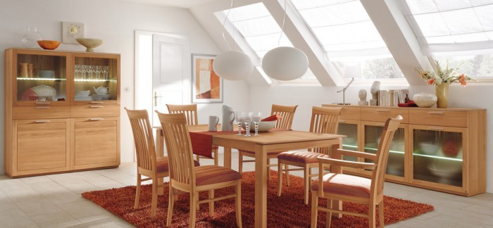 Solid Wood Contemporary Dining Room Furniture
