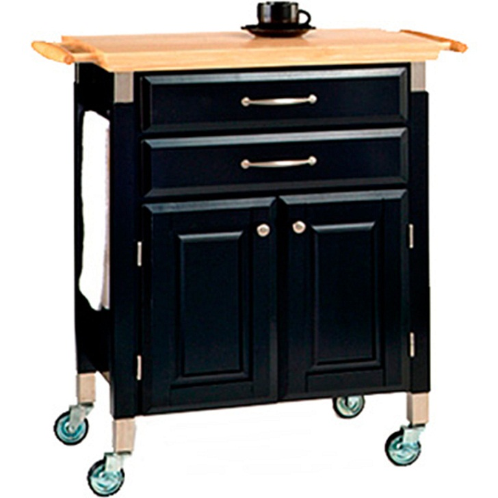 Kitchen Carts on Wheels Dolly Madison Black Finish.