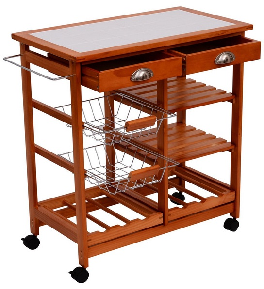Kitchen Carts on Wheels HomCom 28