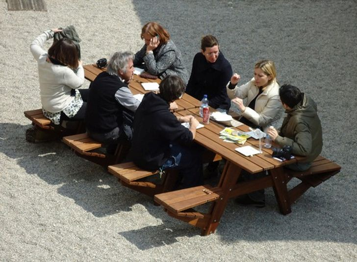 Another Picnic Table Offer Relaxed Low Seating Position