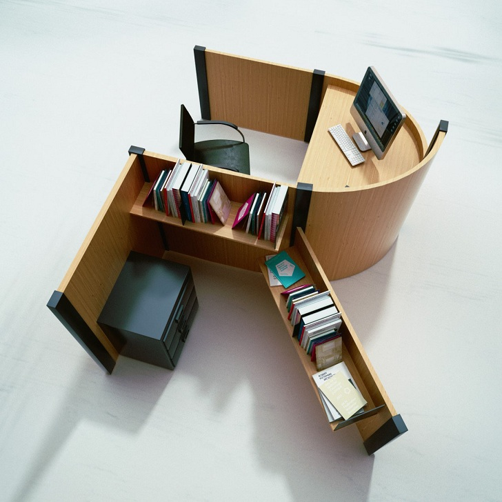 Fold Yard Open Office System with Alphabet Cubicle