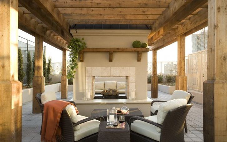 Modern Outdoor Furniture with Fireplace