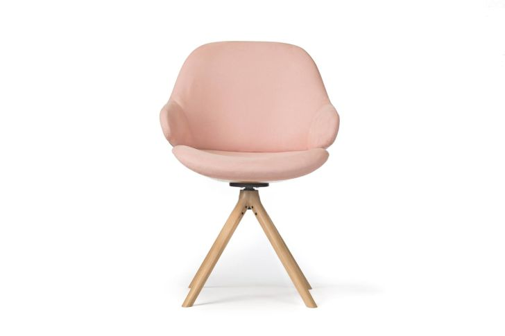 Pink Sleek Armchair by Noé Duchaufour Lawrance