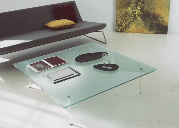 Square Glass Coffee Tables From Tunelli