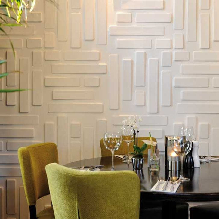 3d Decorative Wall Panels 3d Bricks Wall Panels with Dining Table Set