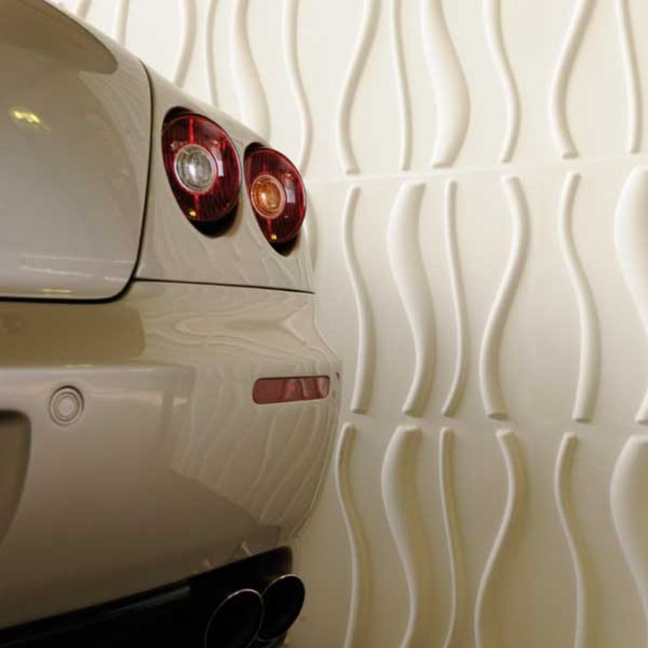 3d Decorative Wall Panels 3d Vertical Sands Wall Panels in the Car Garage