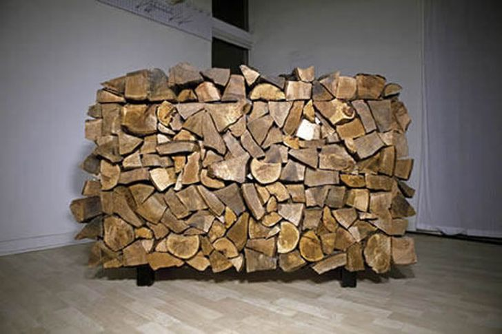 The Facecord Cabinet by Mark Moskovitz A Chest of Drawers Disguised as a Stack of Firewood