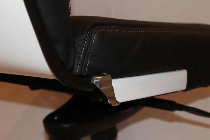Lambretta Chair Close Up of Original Trim Used Supported by the Aluminum Base