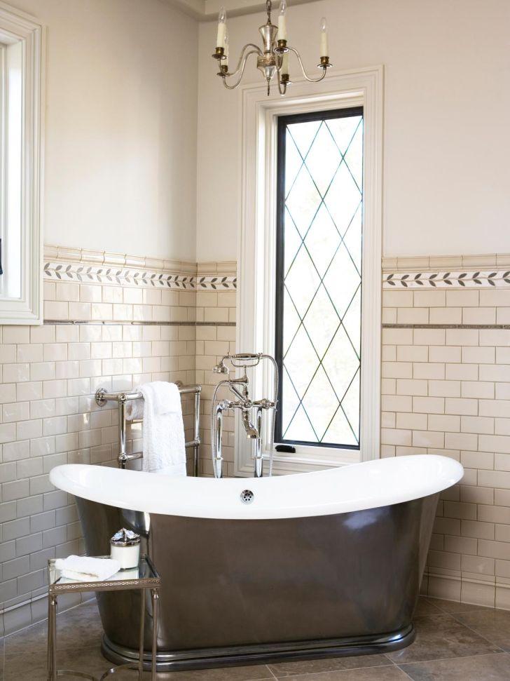 Bathroom Chandelier Lighting Mini Chandelier Bathroom Lighting Over Bathub with White Framed Window