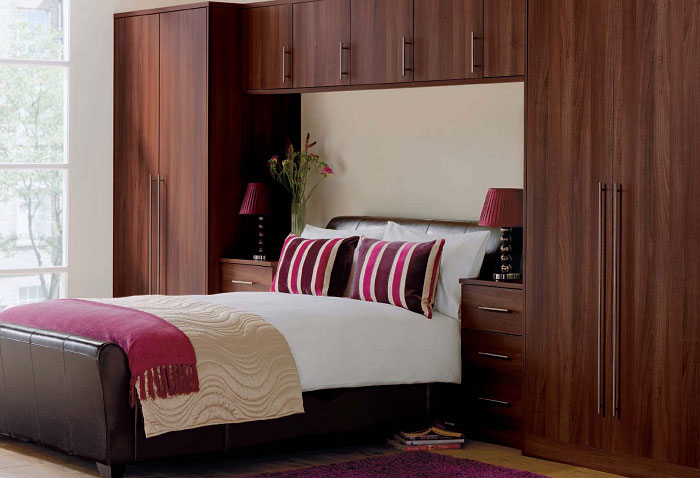 Decorate Small Bedroom Wooden Themed Master Bedroom Decorating Ideas Huge White Windows and Laminated Wooden Cabinet