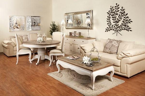 antique distressed furniture antique-white-wood-distressed-painted-dining-coffee-table-white-sofa