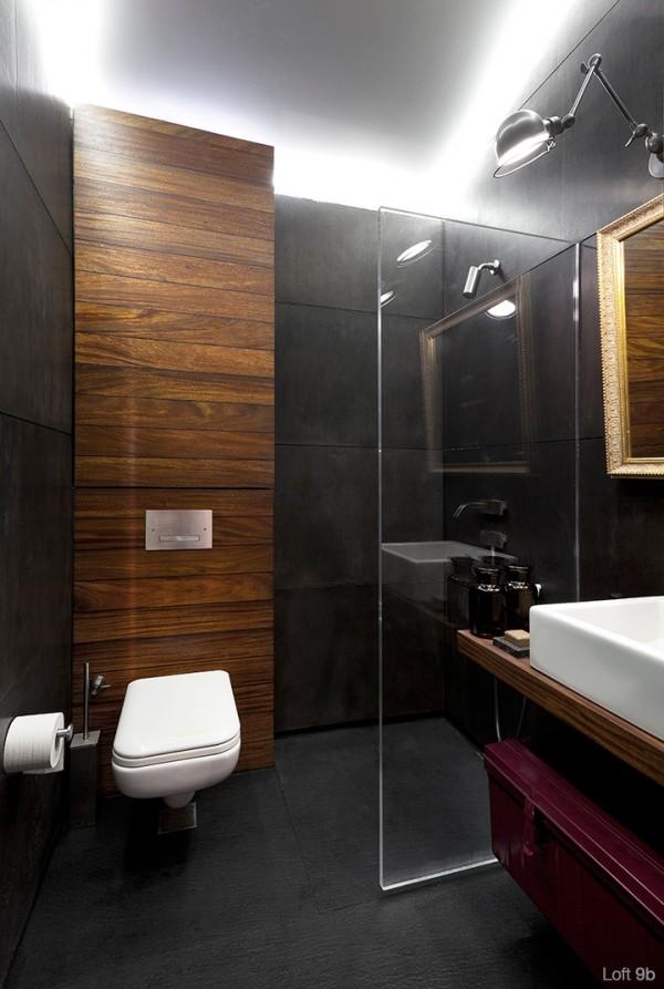 attic-apartment-with-custom-furniture-classy-apartment-with-wood-bathroom-panel