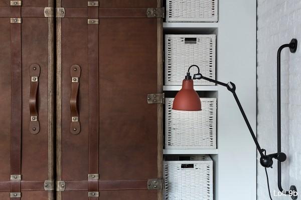 attic-apartment-with-custom-furniture-creative-closet-design-with-white-wicker-storage