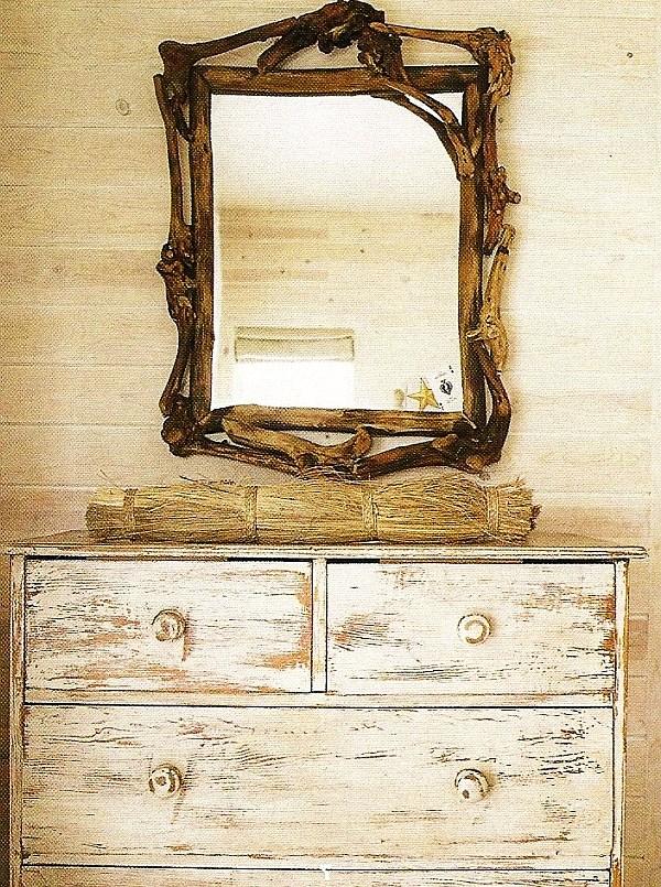 antique distressed furniture diy-distressed-dresser-design-with-carved-square-mirror