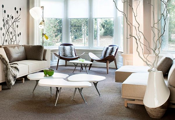 how to choose coffee table irregular-shapes-coffee-tables-design-with-natural-lights-and-sofa