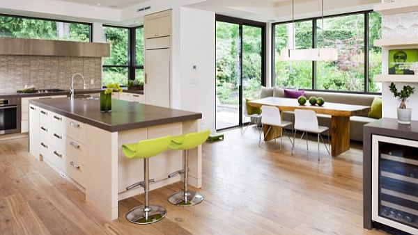 Breakfast Nook furniture modern-kitchen-design-with-breakfast-nook-and-wooden-flooring