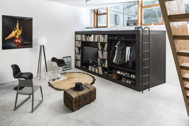 multifunctional furniture for small spaces-multifunctional-bedroom-furniture-for-small-spaces-the-living-cube-by-till-konneker-living-room