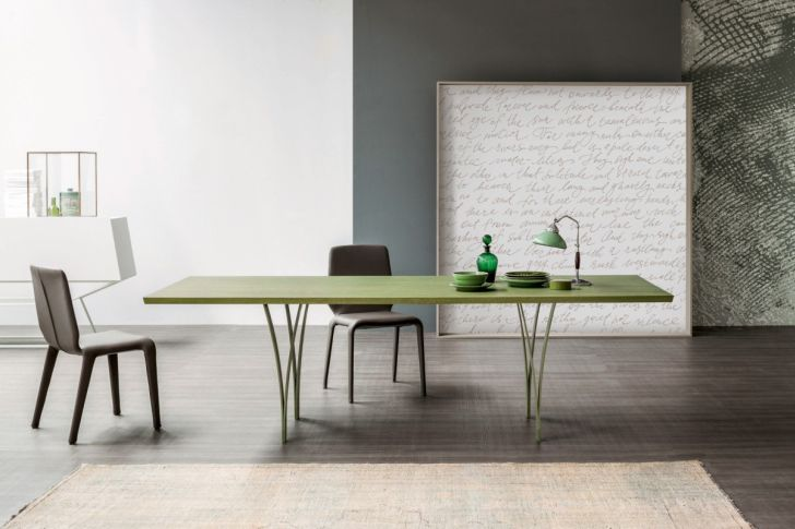 new bonaldo table gap-simple-complex-green-bonaldo-table-design-with-table-lamp-chair