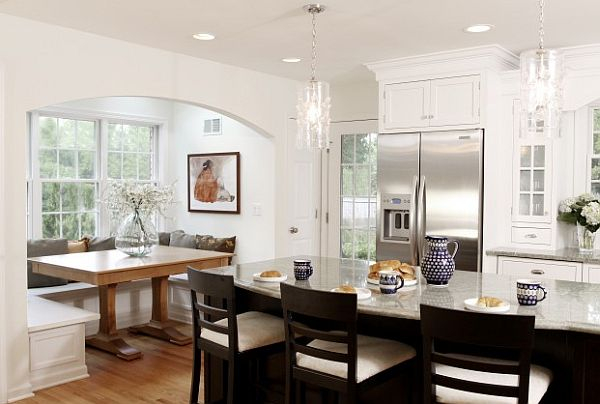 Breakfast Nook furniture traditional-breakfast-nook-with ecclectic-kitchen-furniture-decor