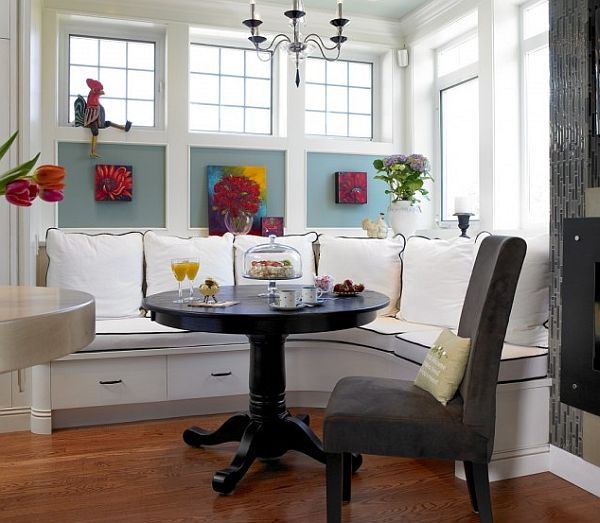 Breakfast Nook furniture vancouver-kitchen-with-traditional-breakfast-nook-table-round