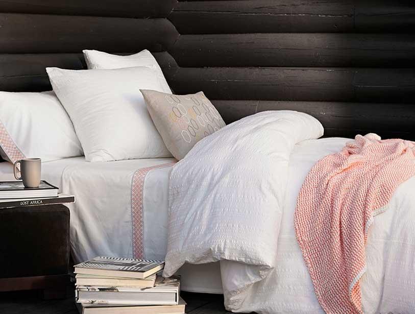 Organic Bedding Options-Coyuchi-Diamond-Peach-Organic-Cotton-Bedding