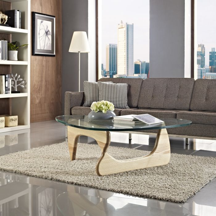 Noguchi Coffee Table-Noguchi Base Coffee Table - Light Ash