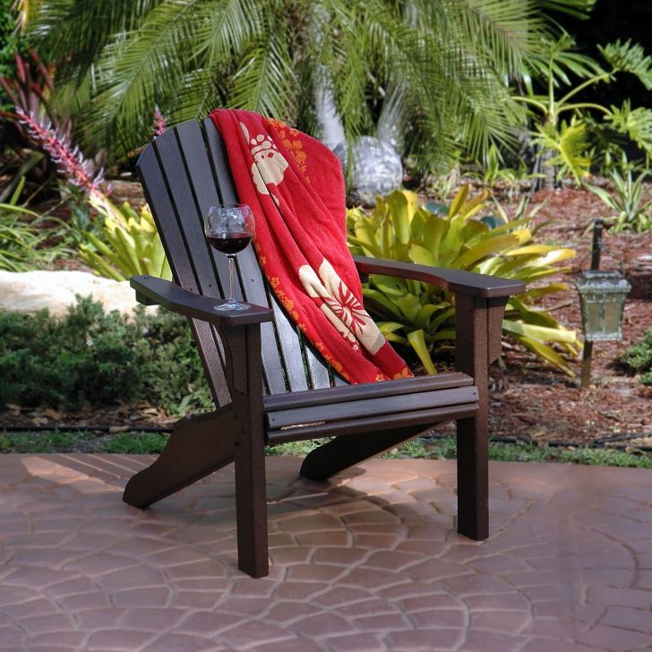 Polywood Patio Furniture-Polywood Seashell Adirondack Chair