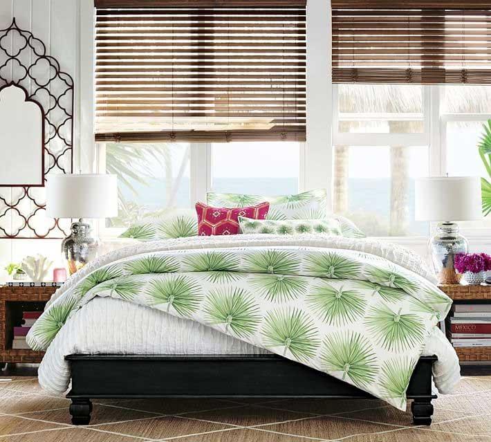 Organic Bedding Options-Pottery-Barn-Organic-Bedding-Green-Palm-Design