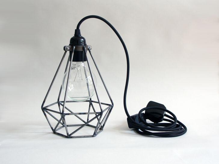 desk-lighting-ideas- rough-diamond-cage-black-desk-lamp-office