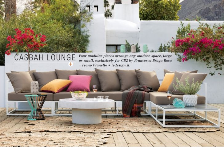 CB2 Outdoor Furniture Cashbah Lounge Sofa