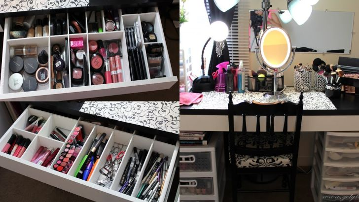 charming and lovely black ikea makeup organizer with drawer and storage  Makeup  Organizer Ikea Mugeek. Ikea Makeup Organizer