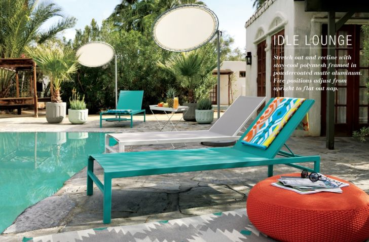 CB2 Outdoor Furniture Green Idle Lounge Patio Furniture