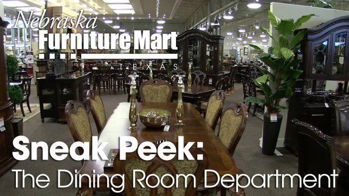 Nebraska Furniture Mart Texas DIning Room Department