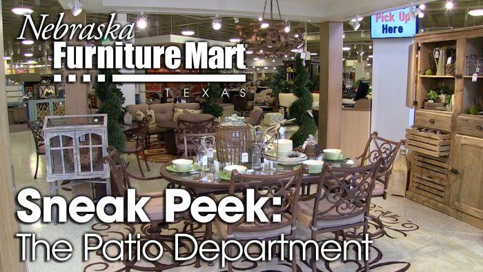 Nebraska Furniture Mart Texas Patio Department