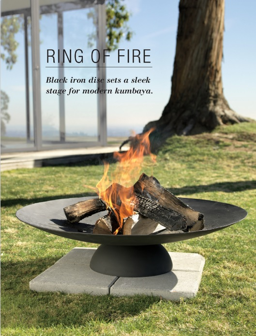 CB2 Outdoor Furniture Ring of Fire Outdoor Fireplace