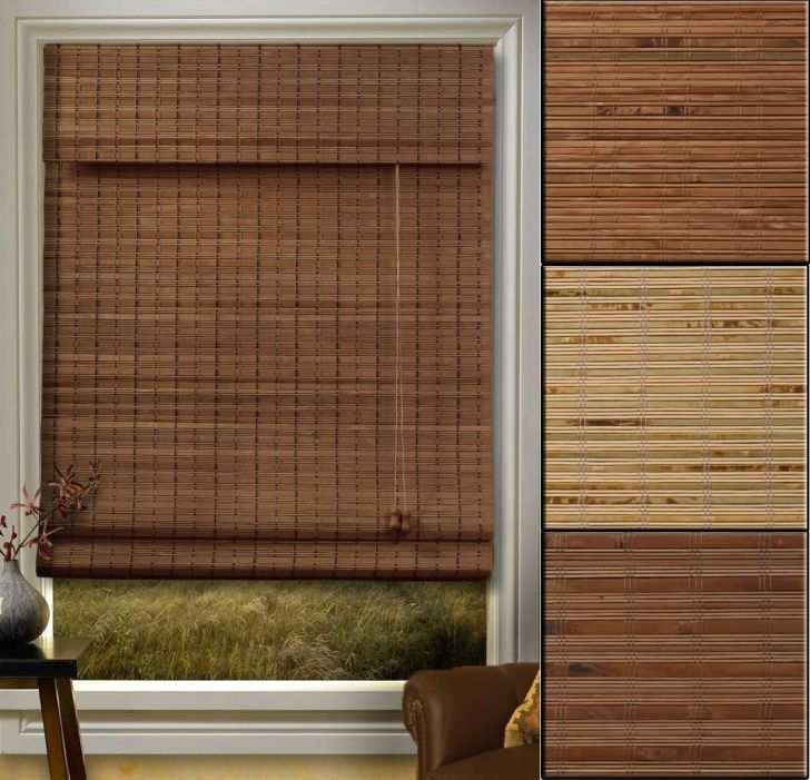 Bamboo Roman Shades With Blackout Liner Ideas Photograph From Walmart