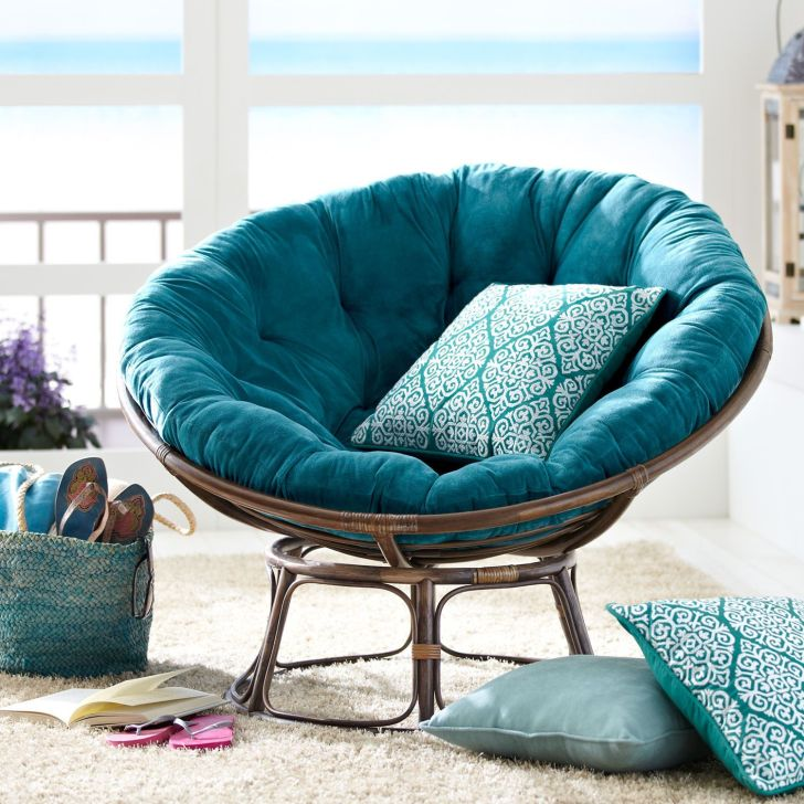 Rattan Papasan Chair Blue Papasan Rattan Chair Pillow by Pier One
