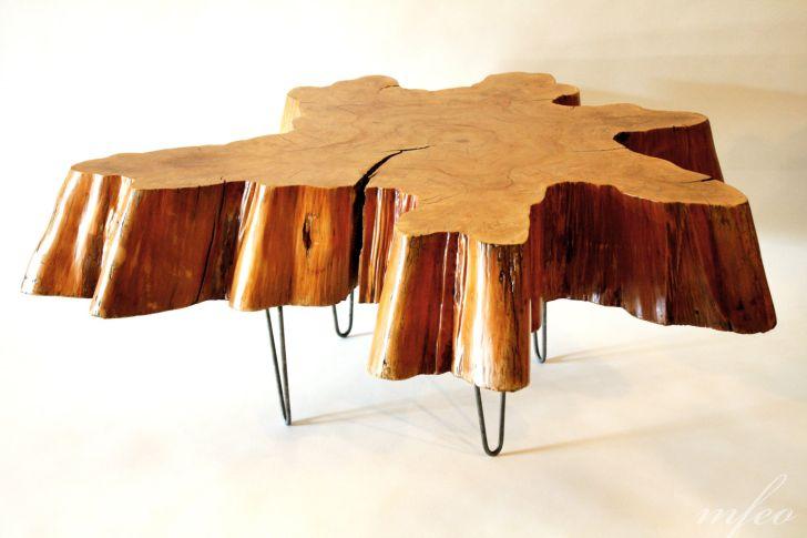 Elegant Tree Stump Coffee Table Base