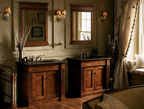 Elegant and Classic Style Double Kohler Bathroom Vanity Long Island