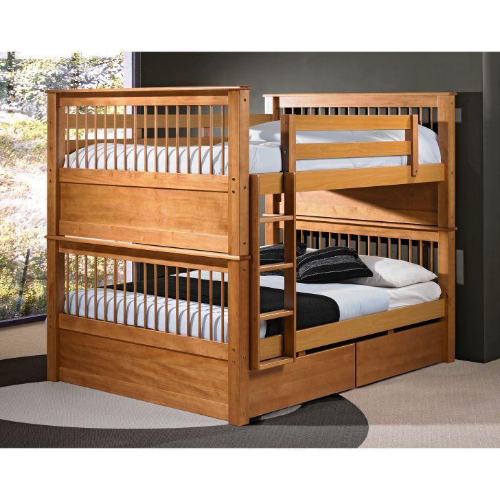 Kids Bedroom Furniture Wooden Over Full Bunk Bed Design
