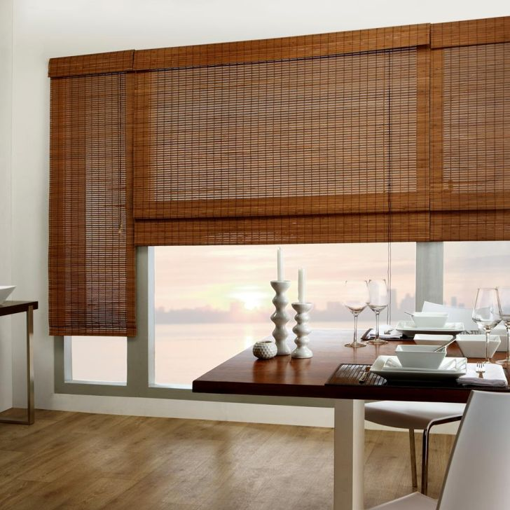 Luxury Bamboo Shades With Blackout Liner With Custom Design Ideas