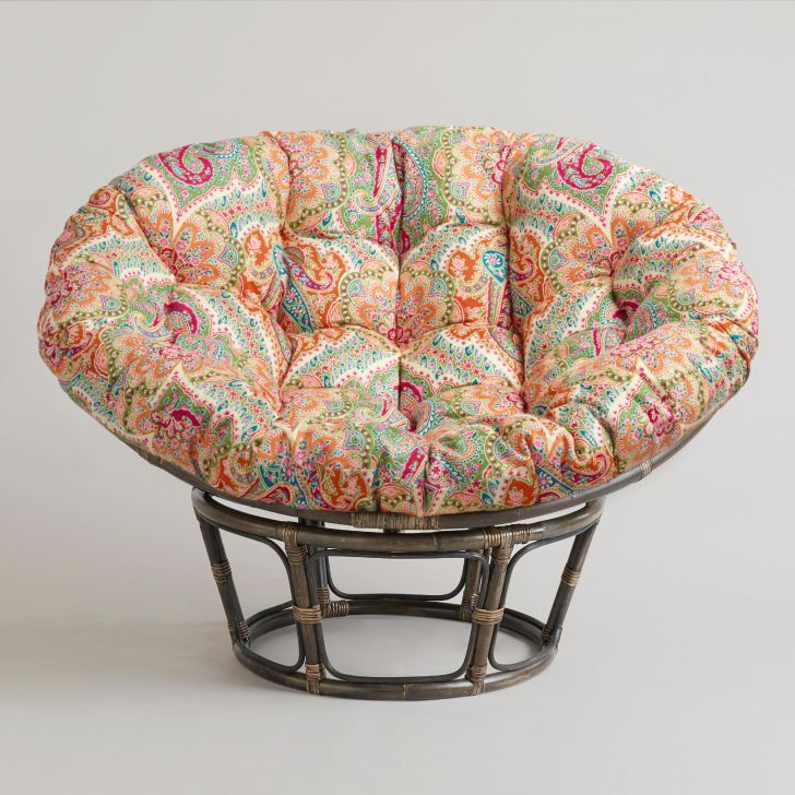 Rattan Papasan Chair Rattan Papasan Chair Cheap with Colorful Cover