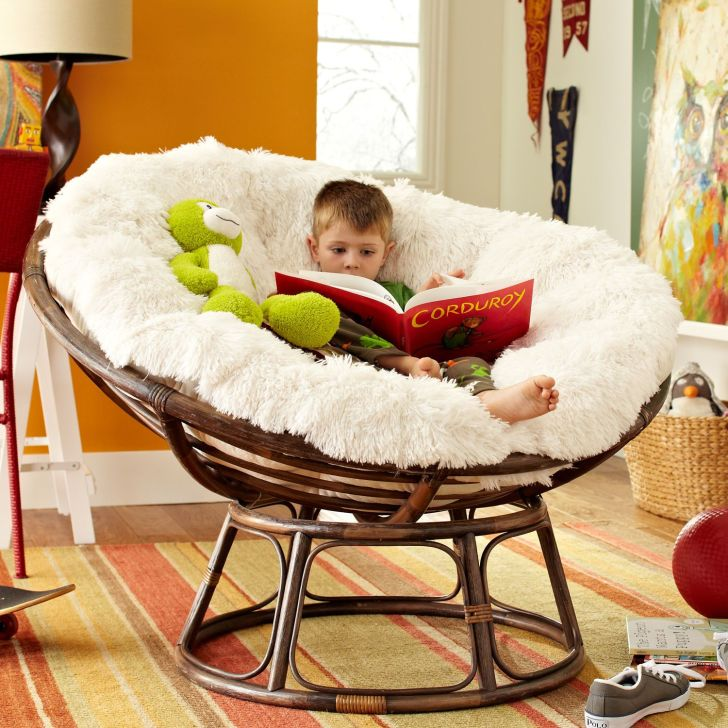 Rattan Papasan Chair Rattan Papasan Chair with Cushion For Kids