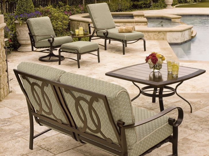 Woodard Patio Furniture Belden Aluminum Cushion Set