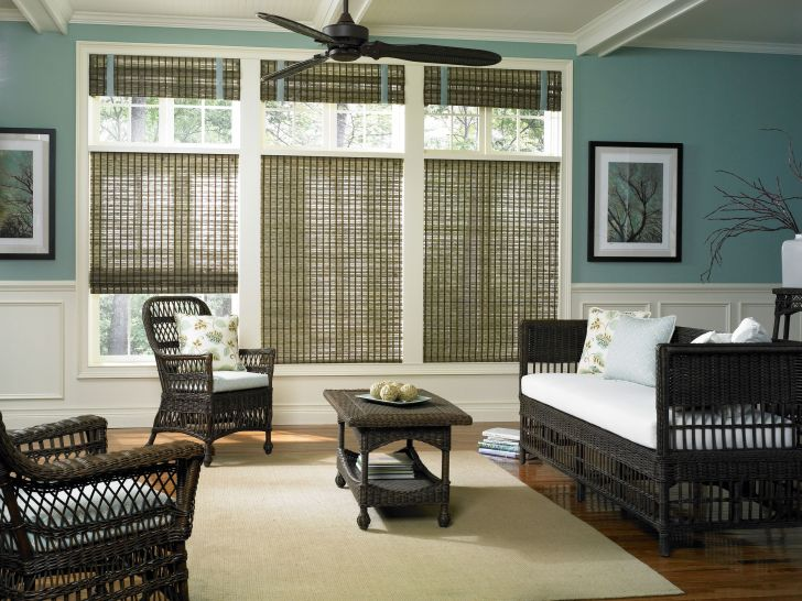 Woven Wood And Bamboo Blinds For French Doors Target