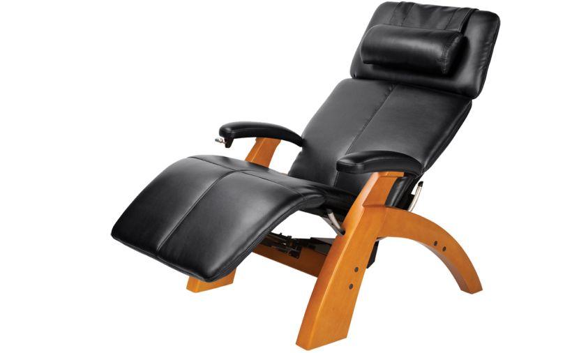 Zero Gravity Chair Costco Zero Gravity Indoor Recliner in Black Leather with Brown Wooden Frame