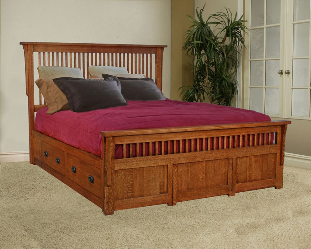 Mission design bed room furnishings that value to for Mission style furniture
