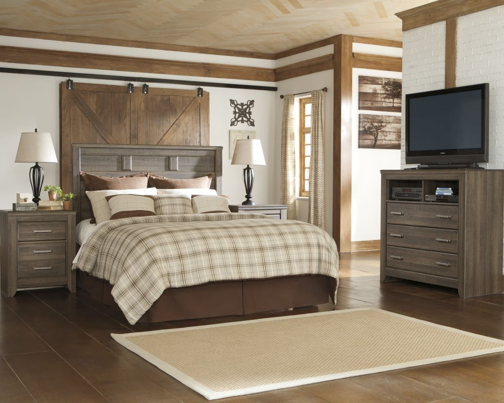comfort master bedroom with media chest with TV and media console