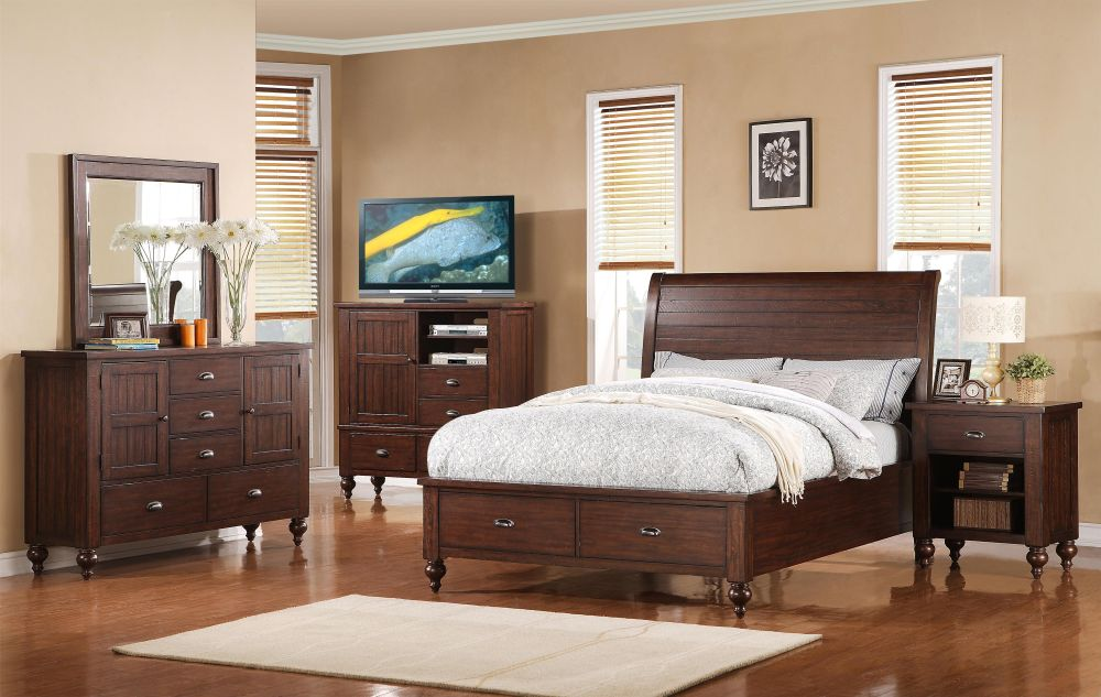 elegant chest of drawers for bedroom with collection of DVDs and music CDs