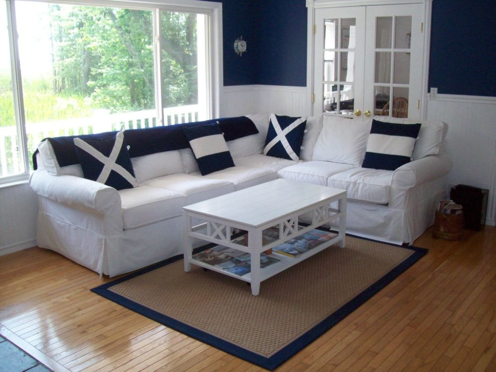 elegant rectangle white wooden nautical coffee table with visualized on the frame with x shape pattern